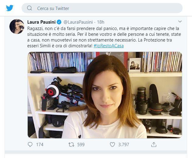 Il cinguettio di Laura Pausini