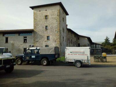 Gli alpini di Cesena al lavoro nella zona rossa di Bergamo
