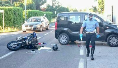 Ravenna, incidente in moto. Ferito 58enne