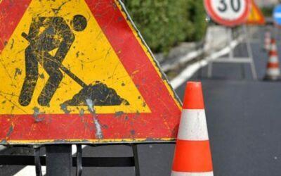 Lavori per costruire un percorso pedonale a San Vittore di Cesena