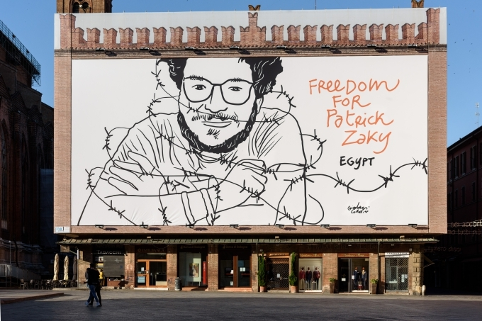 Libertà per Patrick: a Bologna disegno del ravennate Costantini