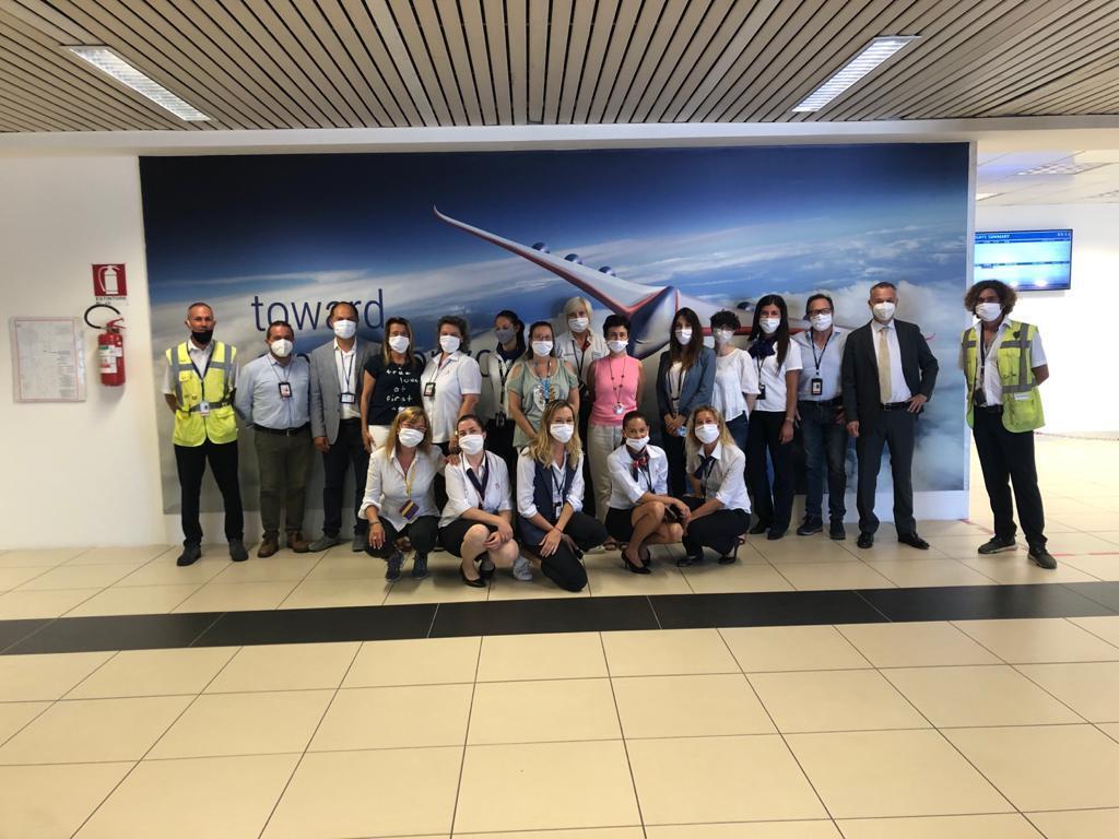Dopo 111 giorni, il primo volo atterrato all'aeroporto di Rimini