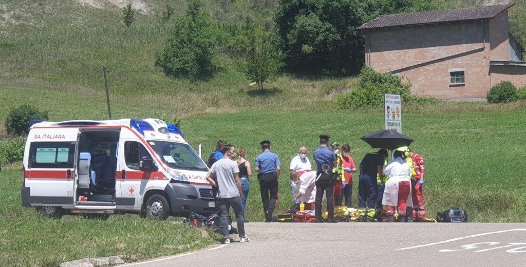Alfonsine, ferito motociclista