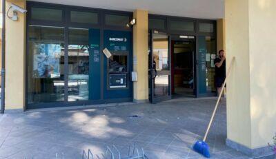 Fatto saltare il bancomat della Bper a Martorano di Cesena - VIDEO