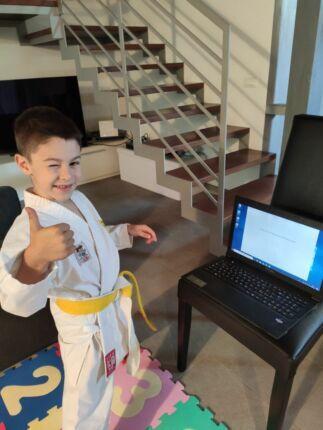 Ravenna, dopo le lezioni anche l'esame di karate è on line