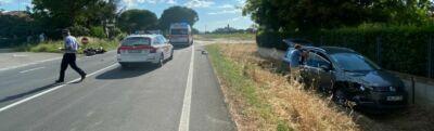 Incidente: grave motociclista a Sala di Cesenatico