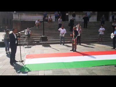 Faenza, il centrodestra in piazza - VIDEO
