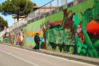 Cattolica, nuovi graffiti nel sottopasso di via Pantano