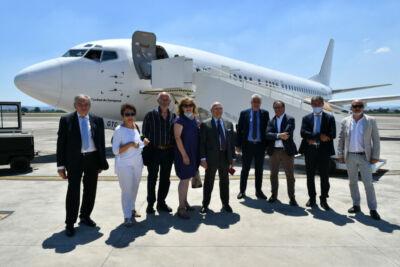 Forlì, il primo aereo atterra al Ridolfi. Si volerà dall'autunno