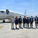 Forlì, dopo sette anni un aereo atterra al Ridolfi - FOTO
