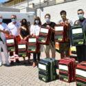 Forlì, zaini attrezzati donati al 118 da Panorama Basket