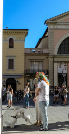 Rivolta Gaya a Imola, in piazza oltre cento persone