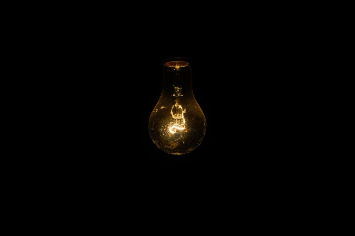 closeup photo of lighted bulb