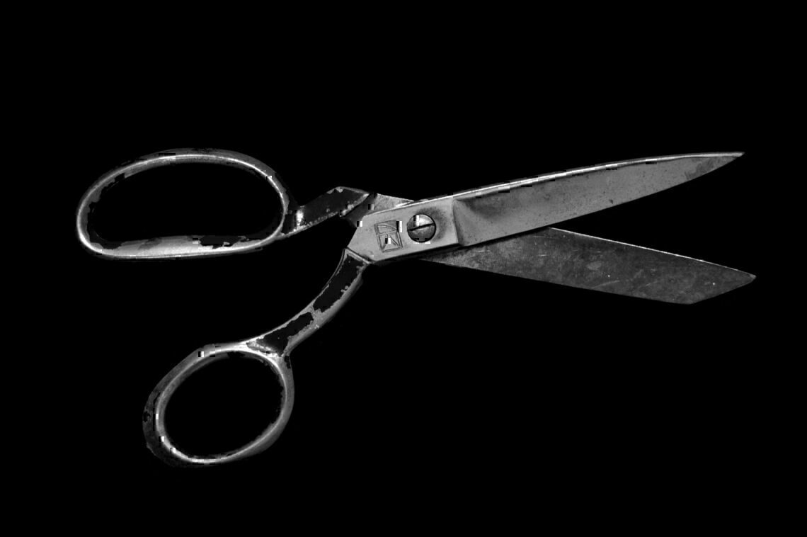 gray steel scissors