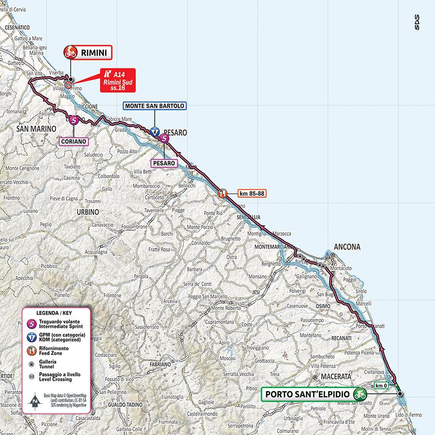 Cartina Italia Riccione.Rimini Il 14 Ottobre Arriva Il Giro D Italia