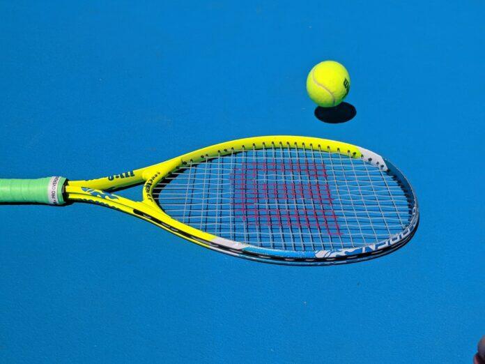 yellow Wilson tennis racket