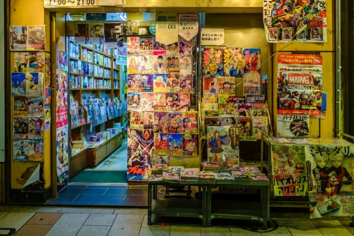 newspapers and comic stand